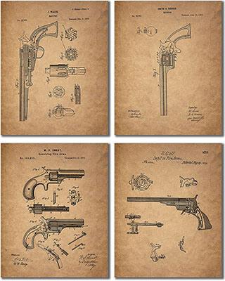 Gun Patent Wall Art Prints