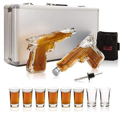 ShotsClub Gun Whiskey Decanter and Glass Set